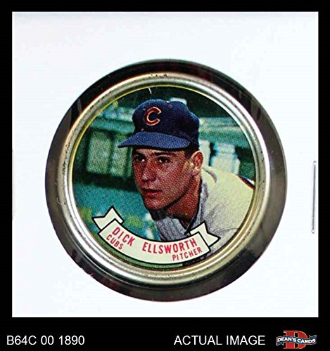1964 Topps Coins # 56 Dick Ellsworth Chicago Cubs (Baseball Card) Dean's Cards 6 - EX/MT (Chicago Cubs Coin Set)