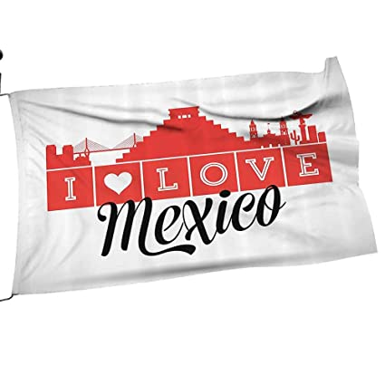 Amazon.com : Moeeze-Home Garden Flag Pole Quotes Love Mexico ...