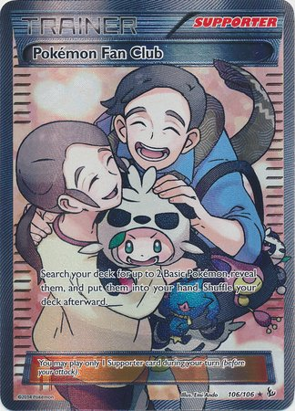 POKEMON TRAINER POKEMON FAN CLUB FULL ART XY FLASHFIRE 106/106