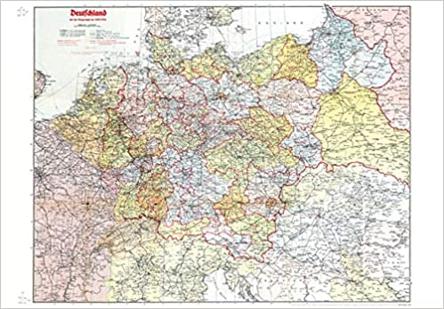 deutschland 1942 karte Historische Karte: Deutschland 1942: Mit Original Handeintrag 1943