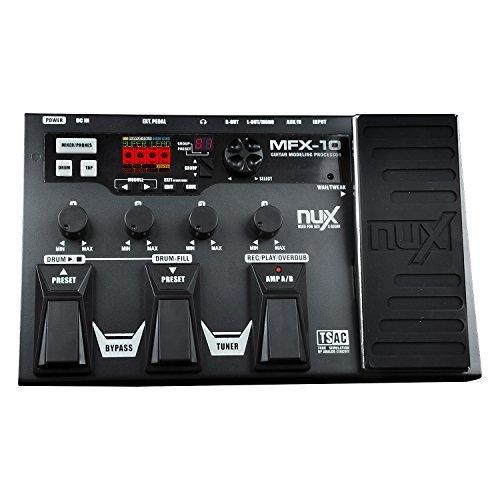 nux mfx 10 modeling guitar multi effects processor pedal 55 models 72 presets with looper drum. Black Bedroom Furniture Sets. Home Design Ideas