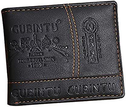 Baomabao Men Leather Wallet for Card Cash Holder Organizer Bifold Purse
