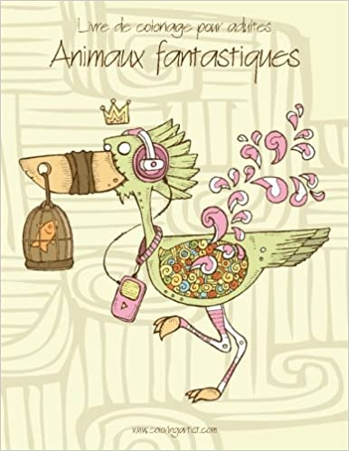 Coloriage Adulte Animaux Fantastiques.Amazon Com Livre De Coloriage Pour Adultes Animaux Fantastiques 1