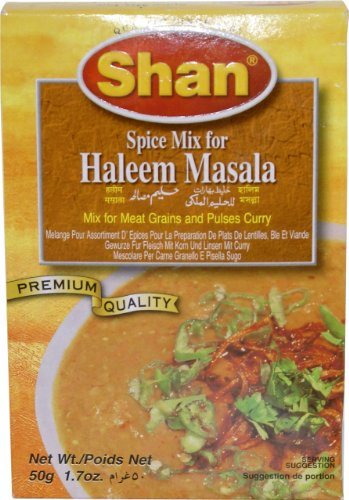 (Shan Haleem Seasoning Mix For Meat and Lentils - Pack of 6 (50)