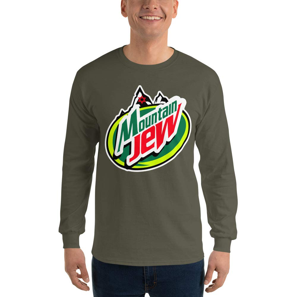 Funny T-Shirt for Men Graphic Spicy Cold Apparel Mountain Jew Long Sleeve T Shirt 100/% Cotton