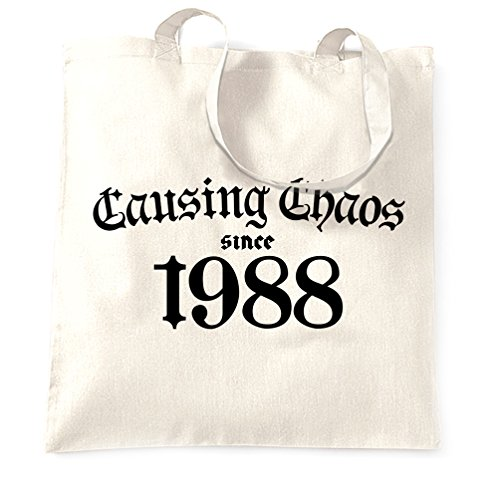 Tote Chaos 1988 Causing 30th Birthday Since Bag White Shopping OwxPxFn6q