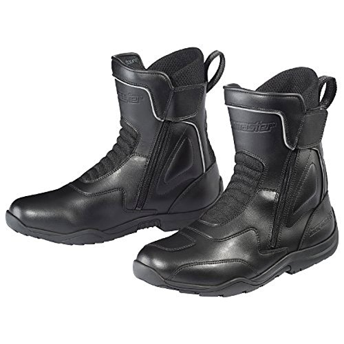 (Tour Master Flex WP Dual Zip Men's Leather Street Motorcycle Boots - Black/Size 11 )