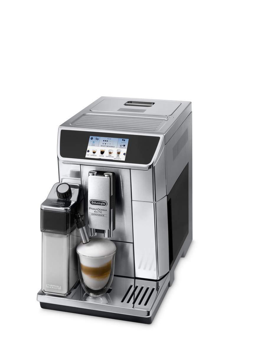 MS Independiente Totalmente automática Plata - Cafetera (Independiente, Granos de café, De café molido, Molinillo integrado, Plata): Amazon.es: Hogar