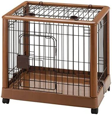Richell Mobile Pet Pen 640 – Small Autumn Matte 25.2 x 18.1 x 22.4