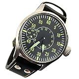 Corgeut Black Dial Sapphire Glass 6497 Hand Winding Men's Wristwatches Luminous