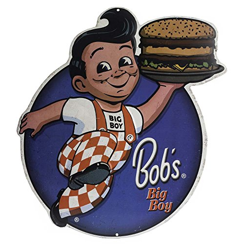 - Open Road Brands Big Boy's Die Cut Embossed Tin Sign