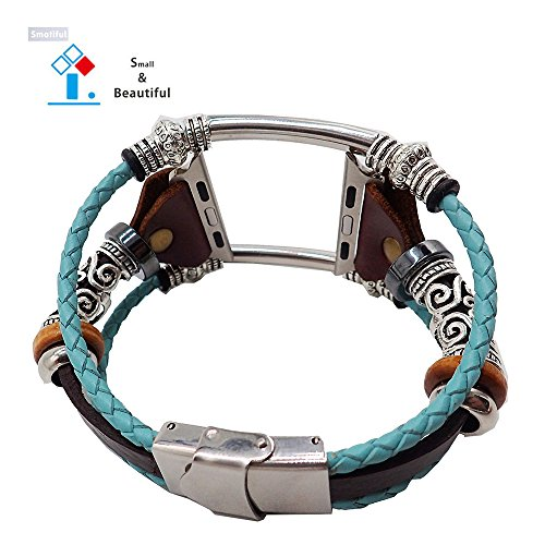 Smatiful Bands for Women, Adjustable Replacement Strap Band for Apple Watch 38mm & 40mm, Turquoise (Teal Green)