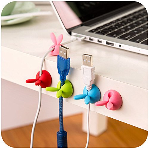 Gotian Durable Headphone Headset Wire Wrap Cable Cord Winder Organizer Cable Collector Silica ~ Self-Adhesive Adhesive, Easy to Use ~