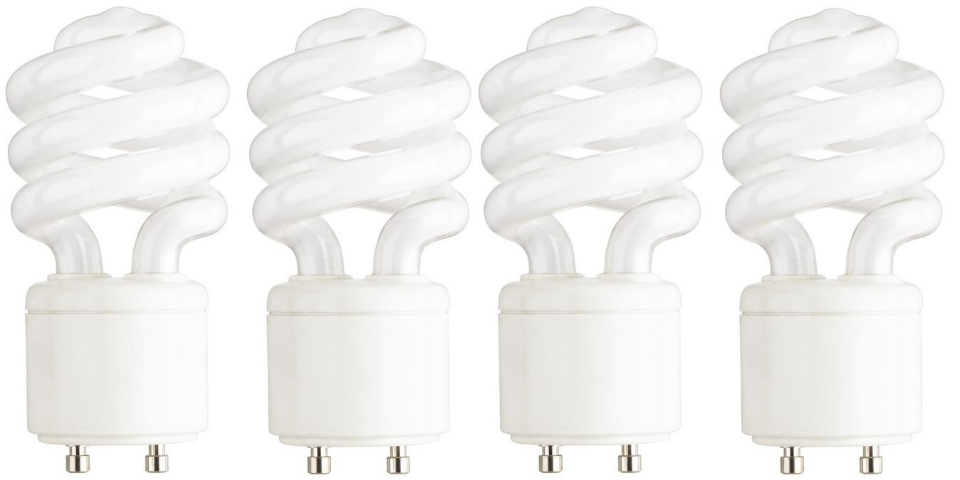 Feit Electric BPESL13T/GU24/2 900 Lumen Soft White Mini Twist GU24 CFL, Uses Up To 78% Less Energy, Compact Fluorescent, Average Life Up To 10000 Hours, Pack of 2