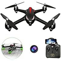 LUCKSTAR RC Quadcopter - Mini 4-axis Aircraft Unmanned Aerial Vehicles GPS Wifi Remote Control Drone with 1080P HD 5G Cordless Camera (Black)