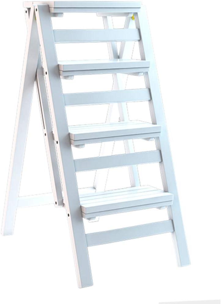 Taburete Plegable Escalera de Madera de 4 peldaños Antideslizante Multifunción Biblioteca Habitación Sala Fácil de almacenar Estante de Almacenamiento Bambú Zapatero 67 × 42 × 92cm: Amazon.es: Hogar