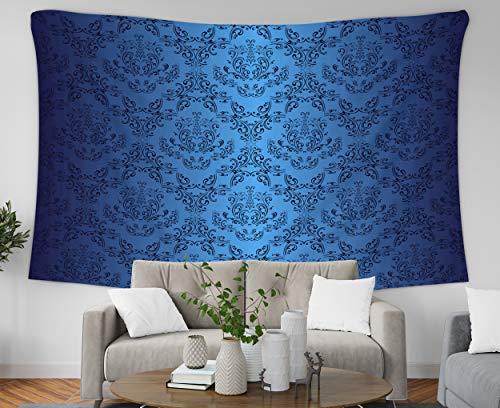 (Asdecmoly Boho Wall Decor, Tapestry Wall Hanging Living Room Bedroom 60 Lx50 W Inches Dark Blue Wallpaper in Style Retro Versiin My Portfolio Id Art Printing Inhouse)