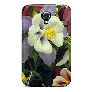 New Premium BLowery Beautiful Colorful Flowers Skin Case Cover Excellent Fitted For Galaxy S4