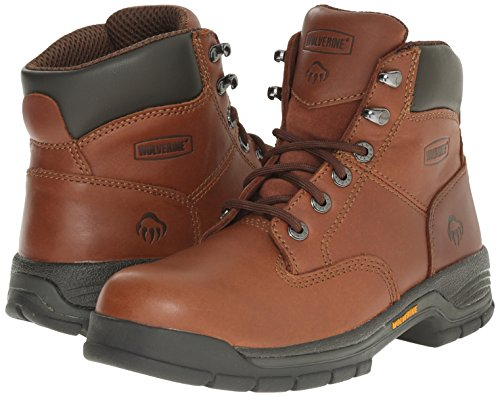 Wolverine Women's Harrison WMS 6'' LACE UP-W, Brown, 9 M US by Wolverine (Image #6)