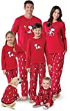 PajamaGram Snoopy & Woodstock Matching Family Pajamas, Youth 8, Red