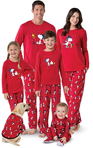 PajamaGram Snoopy & Woodstock Matching Family Pajamas, Youth 8, Red by PajamaGram