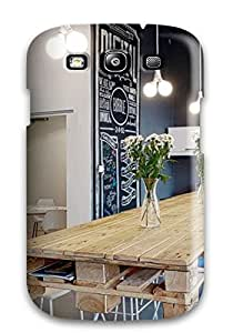 Hot Style CGOJeKp1936zgjCC Protective Case Cover For Galaxys3(blue Office With Large Wooden Desk Amp Bubble Print)