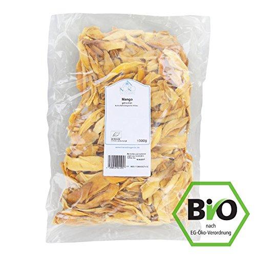 Getrocknete Mango - ohne Zucker & Schwefel - naturbelassen - sehr aromatisch   1 kg Beutel