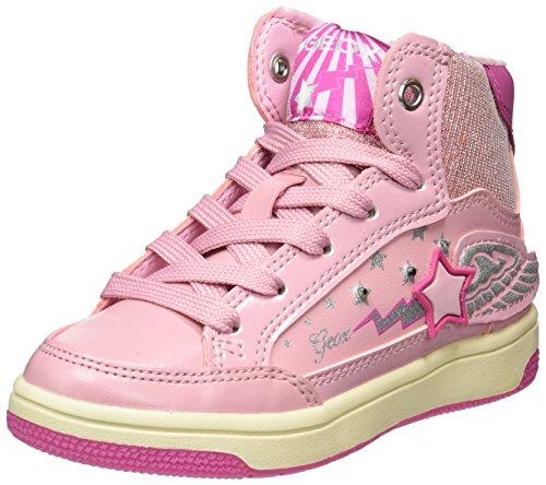 Geox Jr Creamy a, Zapatillas Altas Para Niñas Rosa (Pink/fuchsia)