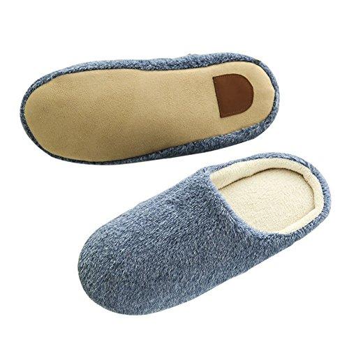 SAGUARO Douce Chaussures Slippers Intérieure Marine Mules Hiver Doublure Homme Pantoufles Coton Femme Accueil Peluche Chaussons Automne rxwOrqav6