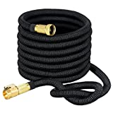 VicTsing 50ft Expanding Garden Hose, Strongest Expandable Hose with Solid Brass Connector, 3750 Denier Woven Casing for Watering Plants,Auto Wash,Cleaning Patio + Free Storage Bag