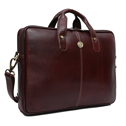Hammonds Flycatcher Genuine Brown Leather 13 inch Office Messenger Bag with 360 Days Warranty