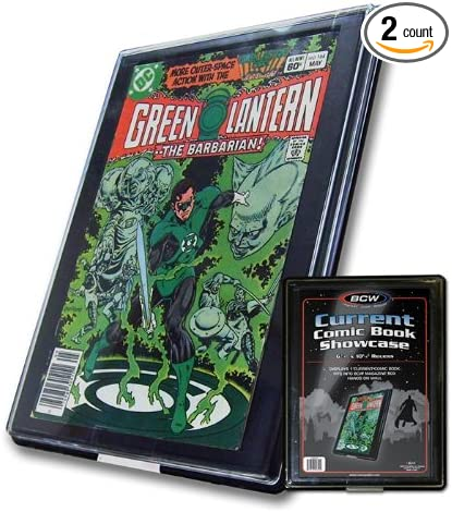 2 BCW Current //Modern Comic Book Showcases #CBS-CUR Wall Mountable Display Frame