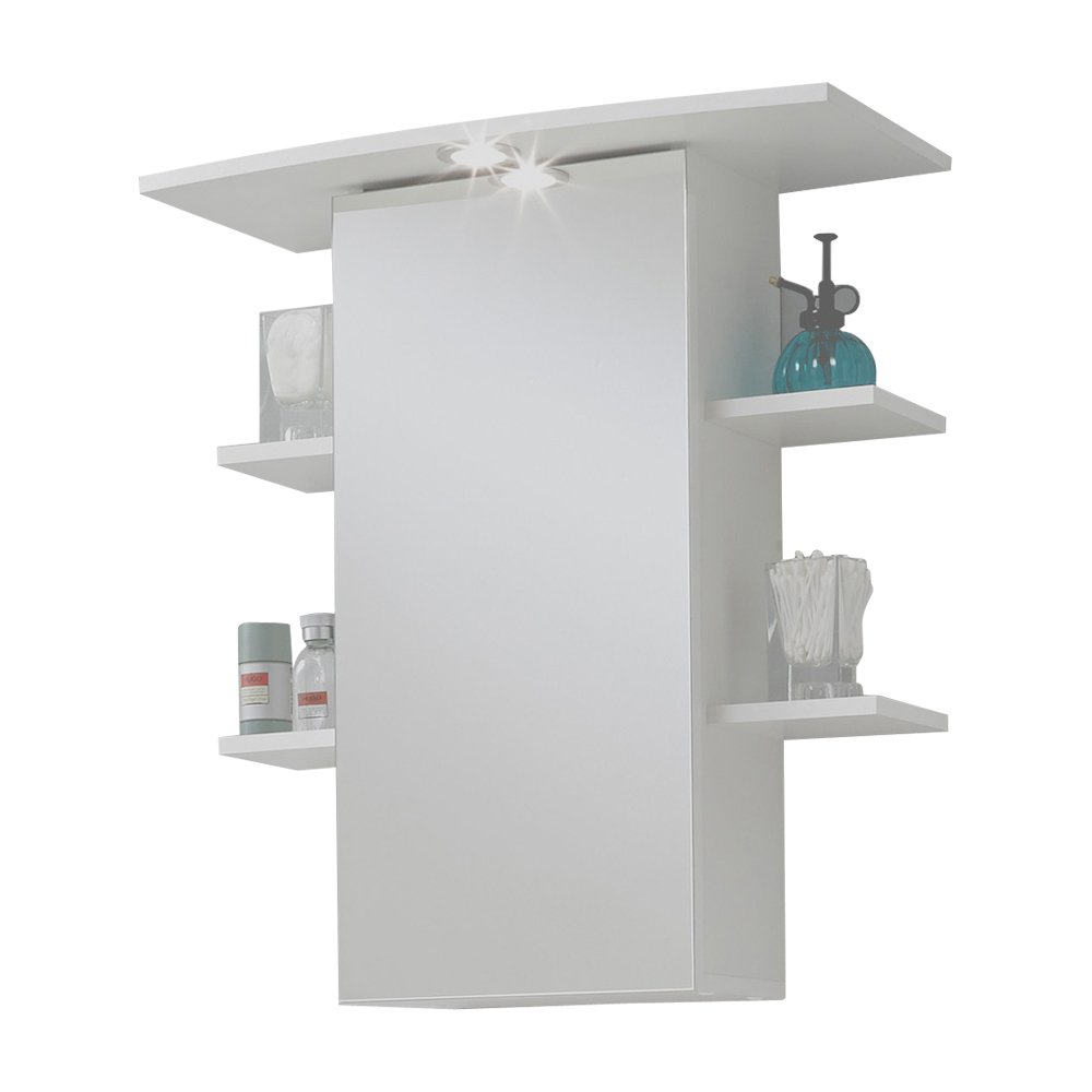 FMD Madrid Mirrored 8 Bathroom Cupboard, 65 x 72 x 29 cm, White [Energy Class C] FMD Möbel GmbH 901-008 F00653207004_BIANCO