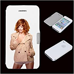 Amazon.com: leather flip Case Carcasa iphone 4 / 4S People ...