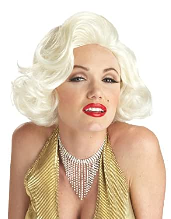 California Costumes Women's Classic Marilyn Monroe Platinum Blonde Wig, Platinum Blonde, One Size