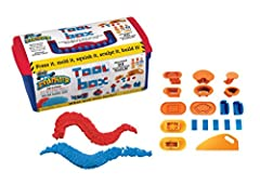Kids of all ages will expand their Mad Mattr building prowess with the amazing Mad Mattr Tool Box! With 20 tools and two 5oz packs of Mad Mattr included in the portable tool box, there are endless ways to maximize your construction play. Pres...