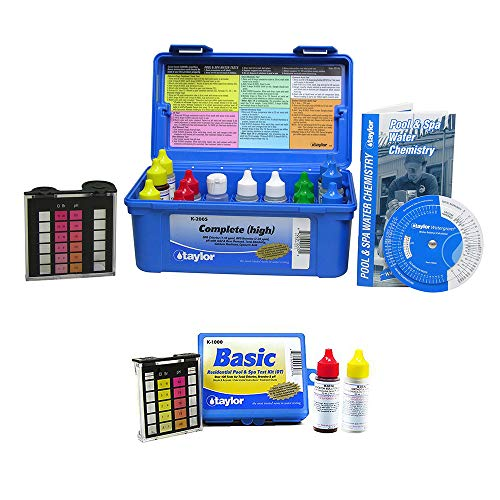 Taylor K2005 Pool Chlorine Bromine Alkalinity Test Kit w/Additional Basic Kit