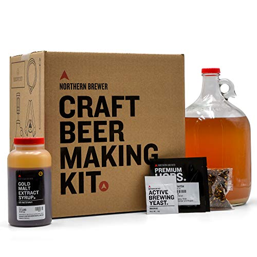 Northern Brewer 1 Gallon Craft Beer Making Starter Kit with Irish Red Ale Beer Recipe Kit - Equipment and Ingredients for Homebrewing ()