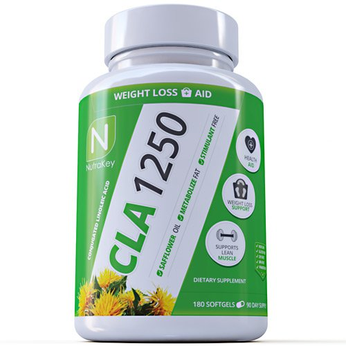 NutraKey CLA 1250 Softgels, 180-Count