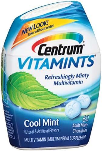 Centrum Adult VitaMints (Cool Mint Flavor) Multivitamin / Multimineral Supplement Chewable, B Vitamins, Antioxidants