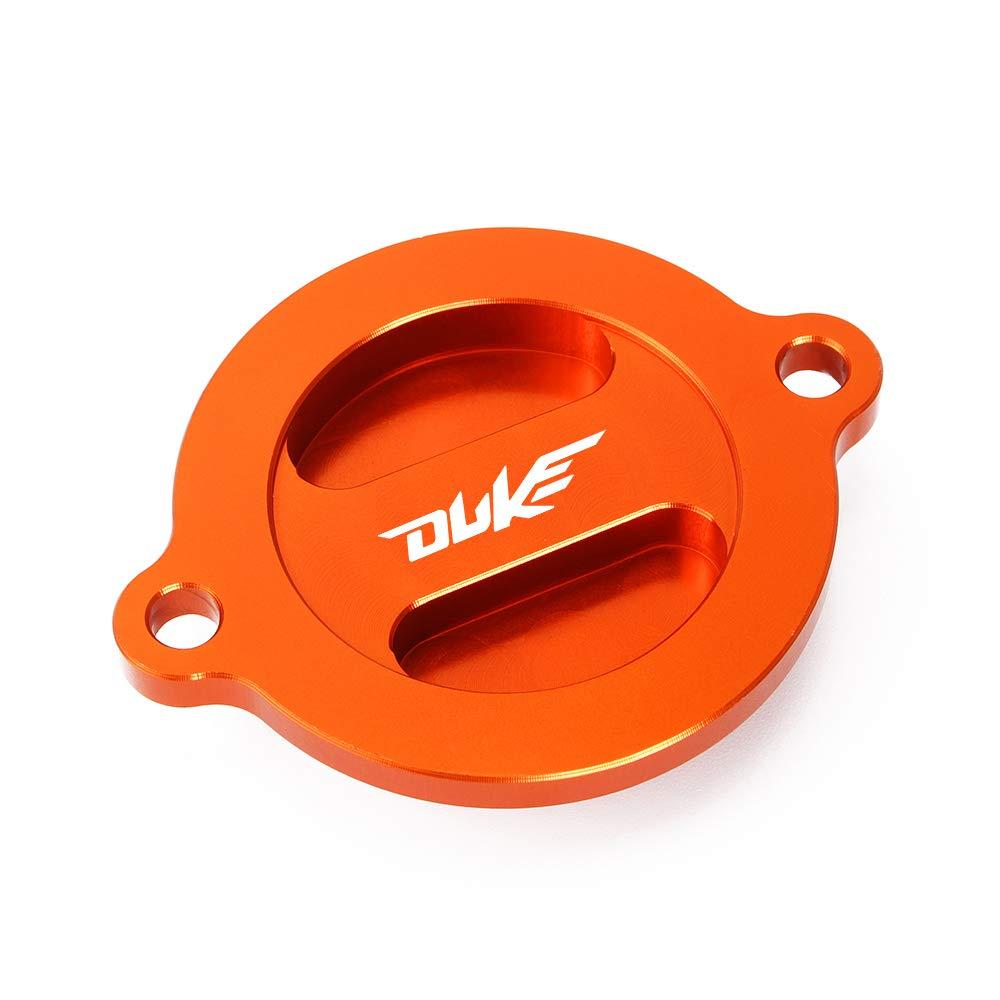 Serbatoio Tappo Coperchio di Olio Filtro Arancione Alluminio per Duke 125 200 390