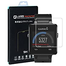 Garmin Vivoactive Screen Protector(2 PACK), Qosea Ultra-thin 9H Hardness Crystal Clear Scratch Resistant Tempered Glass Screen Protector for Garmin Vivoactive Smartwatch