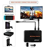 HDMI Game Capture Card HD Video Capture 1080P HDMI Video Recorder Compatible with Xbox One/ PS4/ Wii U /Nintendo Switch etc. Support Mic in