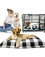 Anzid Pet Dog Bed for Large Dog Bed Mat Soft Crate Mat Extra Large Pillow Waterproof Durable Removable Washable Cover Chew Proof Jumbo Dog Kennel Pad for Medium, Large Dogs/Cats