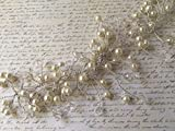 Hair Vine - Swarovski Crystals & Ivory Pearls Hair Vine, Hair Accessories, Hair Vine, Pearl Hair Vine, Wedding Hair Accessories, Bridal Hair pieces, Hairpieces