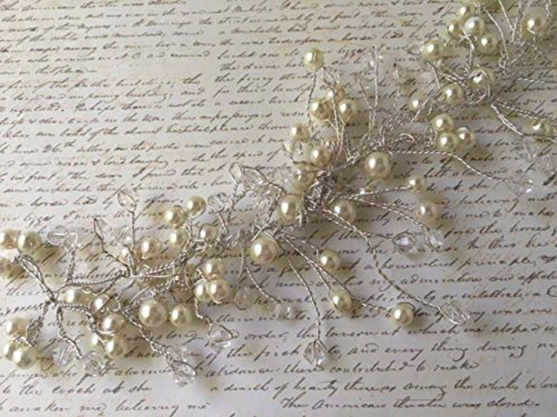 Hair Vine - Swarovski Crystals & Ivory Pearls Hair Vine, Hair Accessories, Hair Vine, Pearl Hair Vine, Wedding Hair Accessories, Bridal Hair pieces, Hairpieces by The Shabby Chic Bride Co