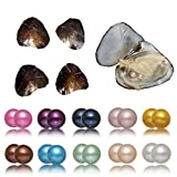 Freshwater Cultured Twins 10PC Love Wish Oyster with Round Double Pearl Inside 10 Oysters 20 Pearls (7-8mm)