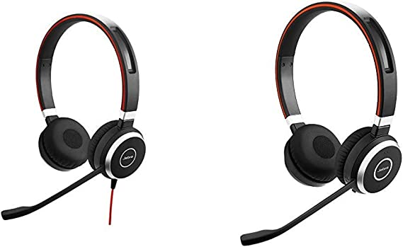 Amazon Com Jabra Evolve 40 Stereo Uc Professional Unified Communicaton Headset Bundle With Jabra Evolve 65 Uc Stereo Wireless Bluetooth Headset Music Headphones Includes Link 360 U S Retail Packaging