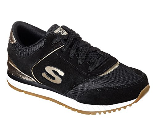 Skechers Sunlite Revival Womens Jogging Sneakers Black 8