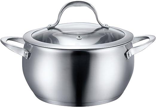 Amazon.com: Olla con tapa de acero inoxidable.: Kitchen & Dining